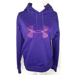 Under Armour Purple Hoodie Pullover Sweatshirt M